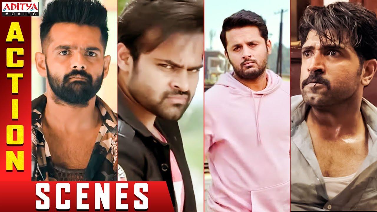 Top Action Scenes 2021 || Back to Back Fight Scenes || Ram ,Nithiin,& Sai Dharam Tej || Aditya Movie