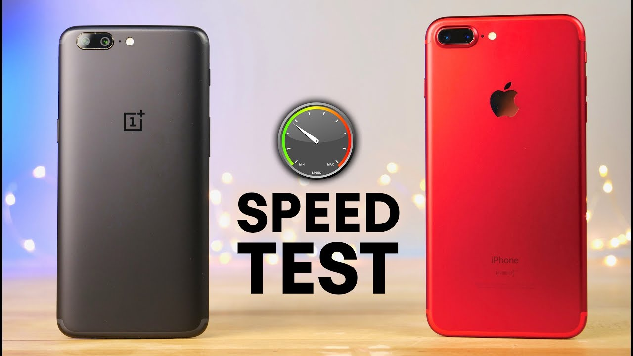 oneplus 5 vs iphone 7 plus speed test