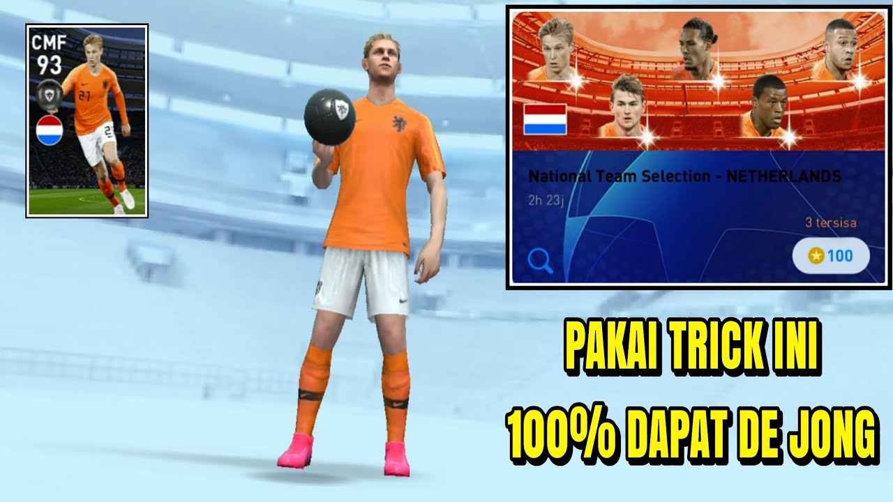 HOW TO GET DE JONG IN NATIONAL TEAM SELECTION - NETHERLANDS    PES 2020 MOBILE