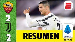 Roma 22 Juventus dos goles de CRISTIANO RONALDO rescatan un punto para la Vecchia Signora | Serie A