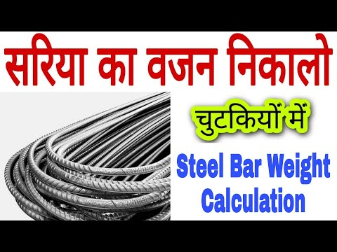 How to Find weight of Steel Bar,How to find the steel Bar weight in kg/meter with formula