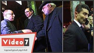 العالم مصطفى السيد وحلمى النمنم وخالد النبوى يؤدون واجب العزاء فى الشاعر الكبير سيد حجاب