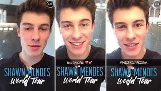 Shawn Mendes announces World Tour dates | January 27th 2016 | Full Snapchat Story