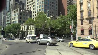 Melbourne Trams - Route 12 Tram Drivers View December 2014