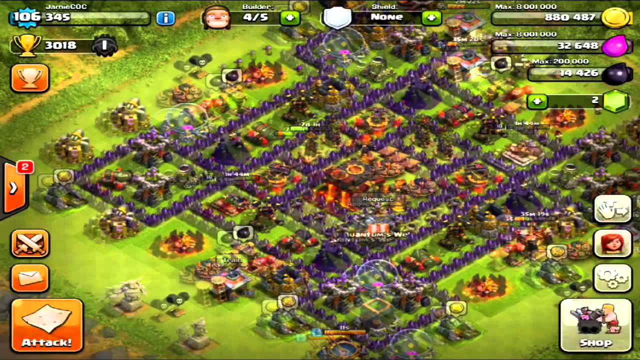 clash of clans 100 winner new base layout road to champion league 3200 trophies youtube
