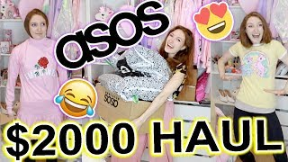 I SPENT $2000 AT ASOS!! HAUL AND TRY ON: LAZY OAF, SKINNYDIP LONDON, FENTY PUMA, HELLO KITTY