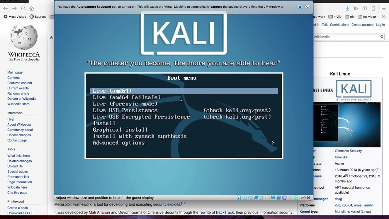 download and install kali linux in virtualbox