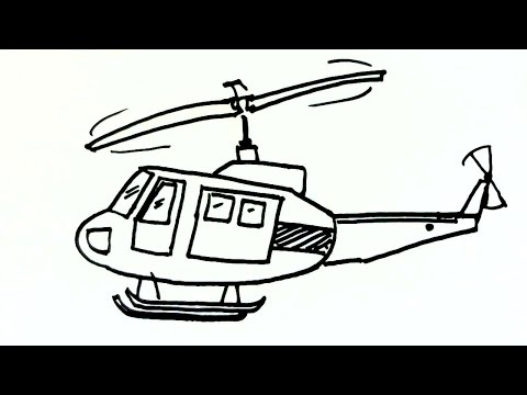 how to draw a chinook helicopter step by step