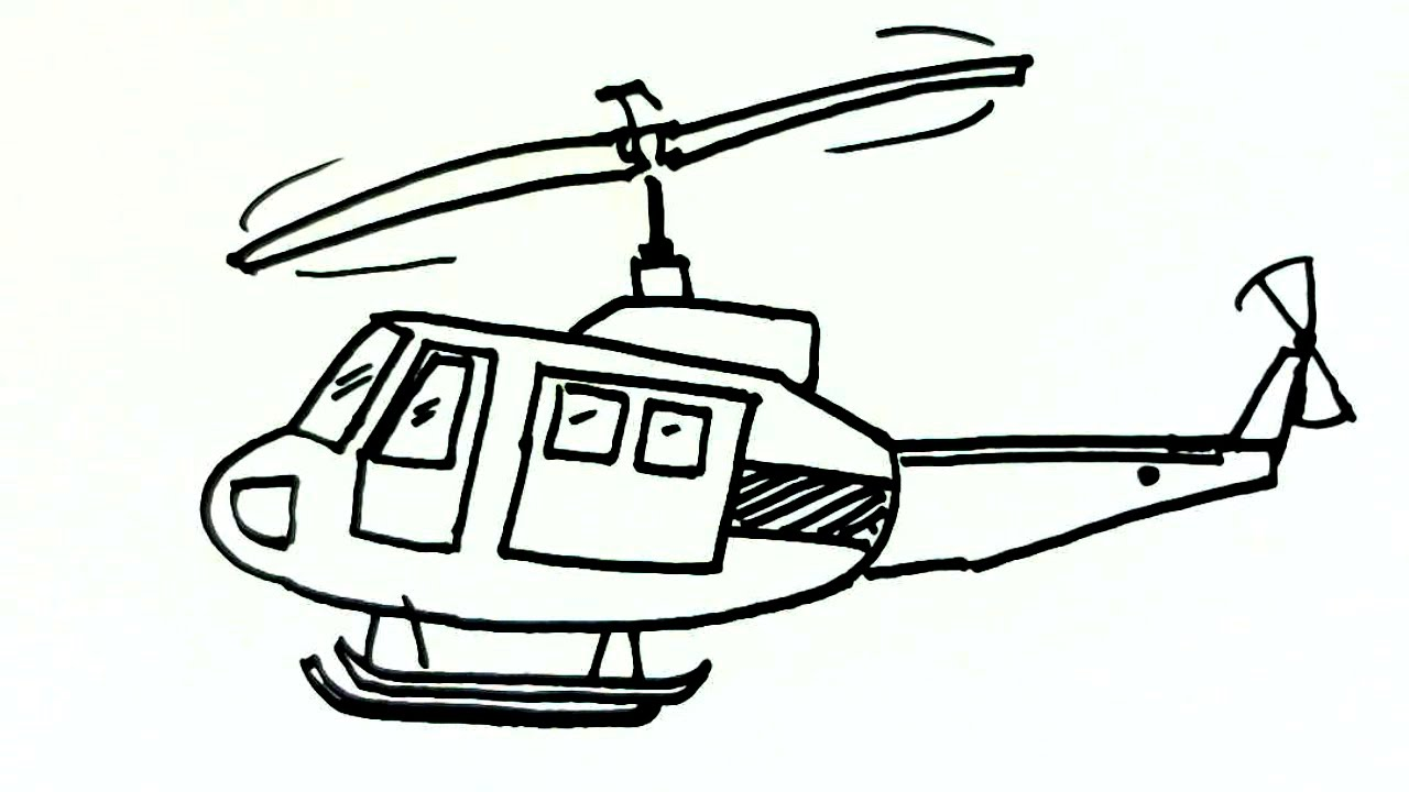 How to draw a helicopter 15