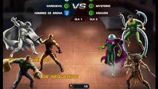 Capitulo 9 Mision 5 BATALLA HEROICA Seis Siniestros vs Hombre Arena Daredevil Caballero Luna + Jefe