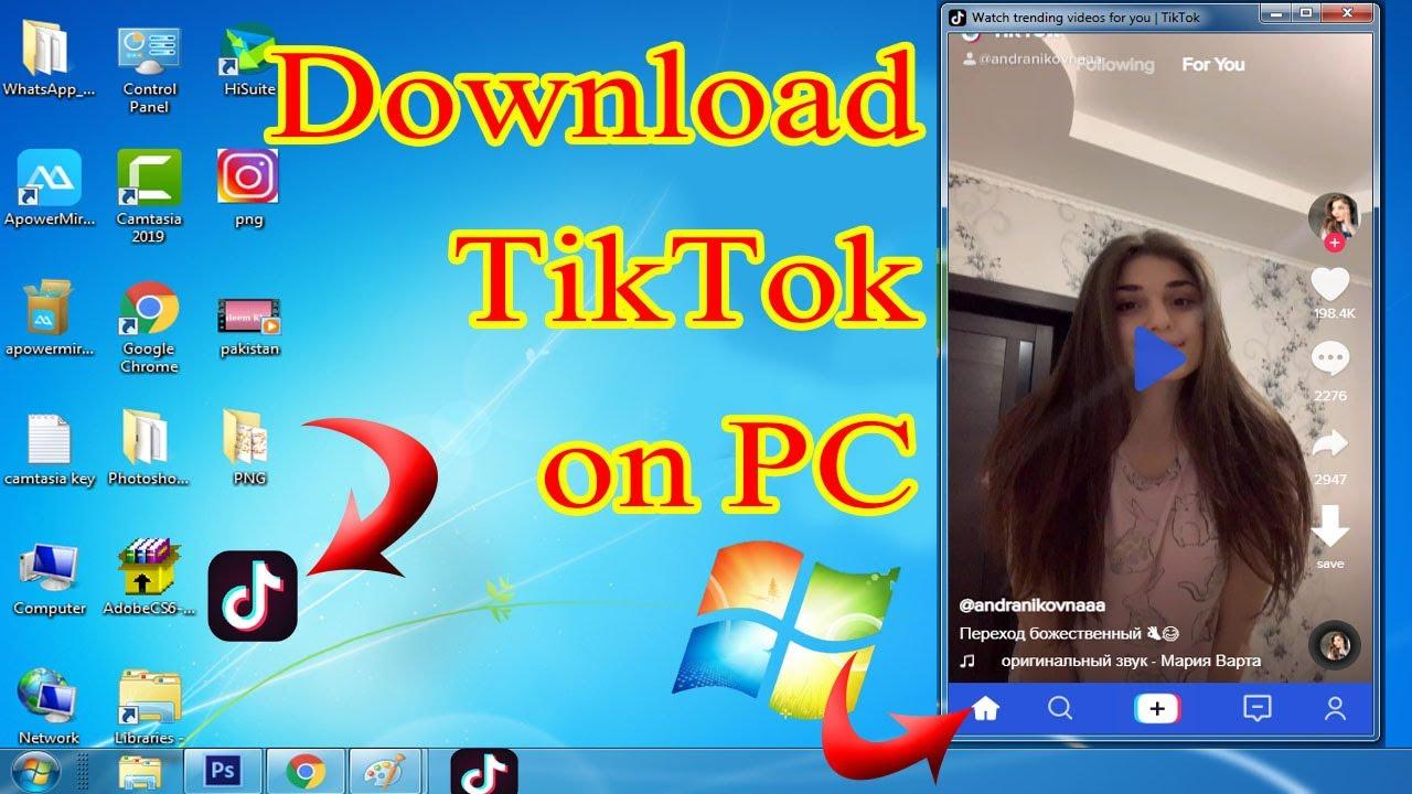 How To Download Tiktok On Laptop Pc Open Tiktok Id On Laptop Pc Youtube