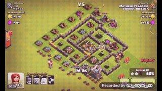 Clash of clans - Ataque Perfeito (PT) contra um Cv5