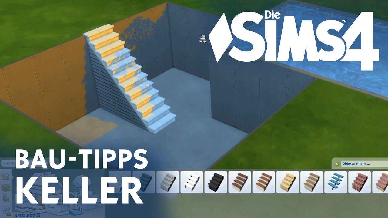 Die Sims 4 Bau-Modus Tipps: Keller - YouTube