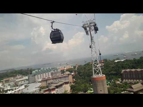Singapore cable car   Sentosa island   visit