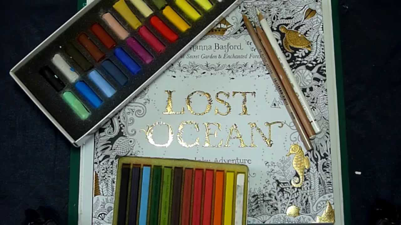 Colouring Book Tutorial Applying Pastel Over Pencils