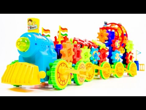 Electronic Block Train Educational of the Mechanisms and Gears Toys VIDEO FOR CHILDREN