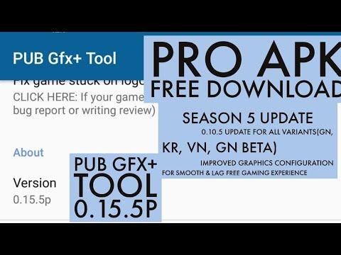 Season 5 | PUB Gfx+ Tool🔧:#1 GFX Tool(with advance settings) v0 15 5p  (Paid) | Updated Link
