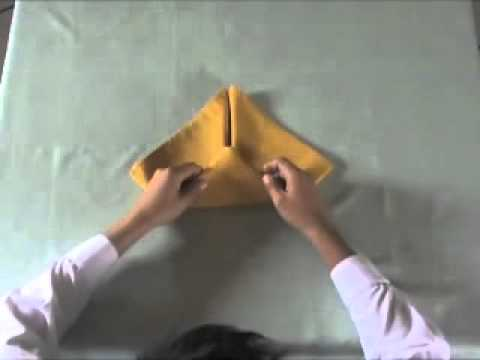 Module 3 Lesson 3 Banana Napkin Fold Youtube