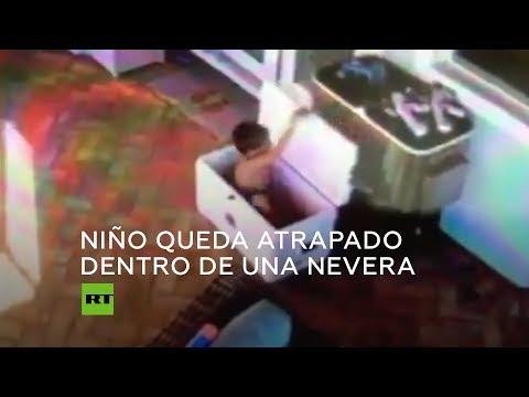 Luis Treviño - Pequeño Queda Atrapado En Hielera Al Jugar Dentro De Ella