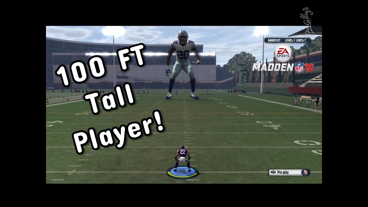 Hit Sticking A 100 Ft Giant Madden 16 Gauntlet Gameplay