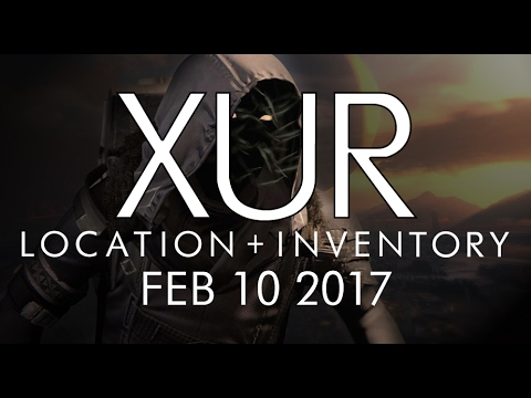 Destiny - Xur Location & Inventory for 2-10-17 / February 10, 2017 - Rise of Iron!