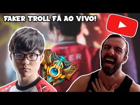 Faker Trolla Fã ao Vivo no League of Legends thumbnail