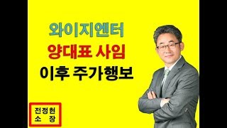 와이지엔터 전정현소장 종목진단 2019-06-16