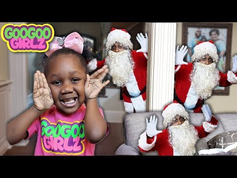 Goo Goo Gaby Plays Hide & Seek With Santa Clause! 🎄🎁(Learn to Count to 5 with Goo Goo Girlz)