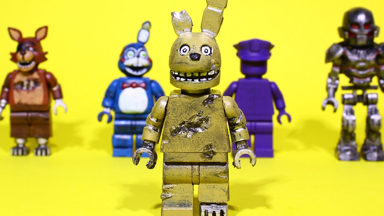 Lego five nights at freddy s minifigures part 6 springtrap youtube