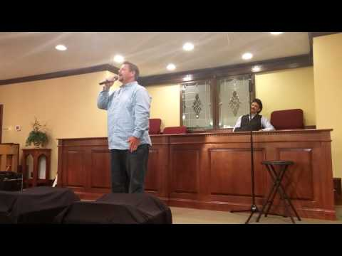 "Kevin Lane invited by Ivan Parker to come sing his song ""Every knee shall bow"""