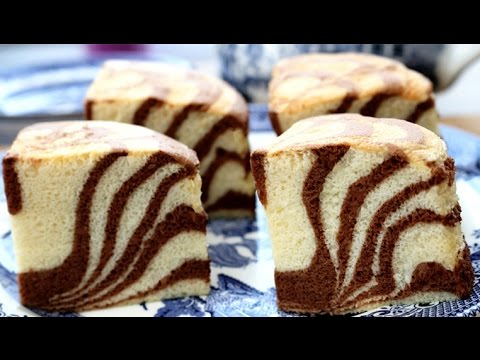 How To Make Zebra Stripes Sponge Cake
