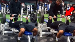 Brad Castleberry Weights Are Actually Real? | How Much Your Spotter Touching The Bar ACTUALLY Helps