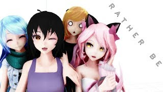 【MMDXAphmau】 Rather Be 【Aphmau|Katelyn|Lucinda|Kawaii~Chan】