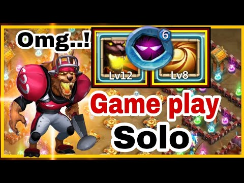 Sacred Light | Anubis | Solo Game Play | Dungeon/Raid/lybrith | Crazy Hero | Castle Clash