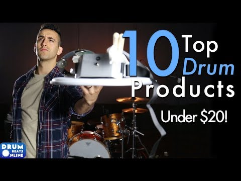 Top 10 Drum Products of 2017 - Under $20! | Drum Beats Online