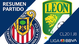Resumen y Goles | Guadalajara vs León | Jornada 8 - Clausura 2020 | Liga BBVA MX