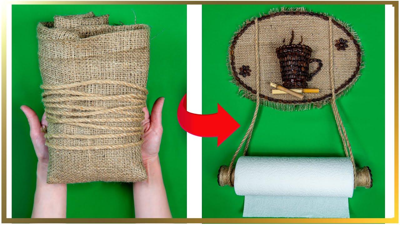 Din carton obișnuit și pânză groasă de sac un lucru util pentru bucătărie!  Perfect