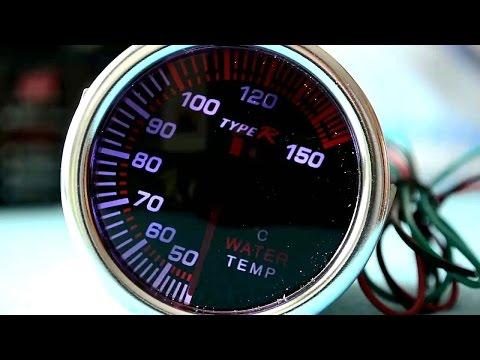 Como instalar un medidor de temperatura o aceite externo en un auto