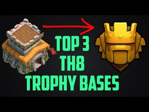 Clash of Clans: Top 3 Town Hall 8 Trophy Bases 2017|Coc TH8 Best Trophy Pushing Base To Titan League
