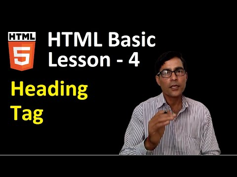 Heading Tag In HTML   HTML Basic Tutorial In Hindi   Webpage Designing In HTML Form Notepad