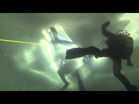 DIVING UNDER THE ICE