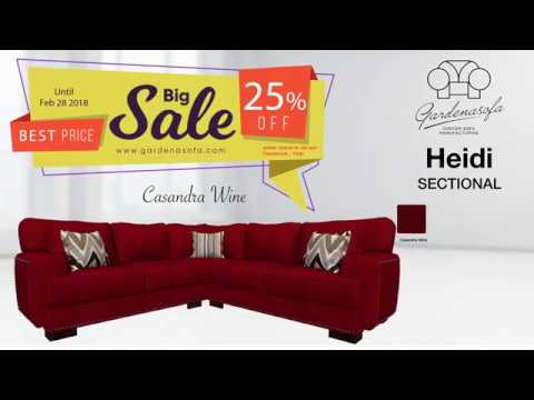 Choose Fabric for Heidi V Sectional on Gardena Sofa LLC
