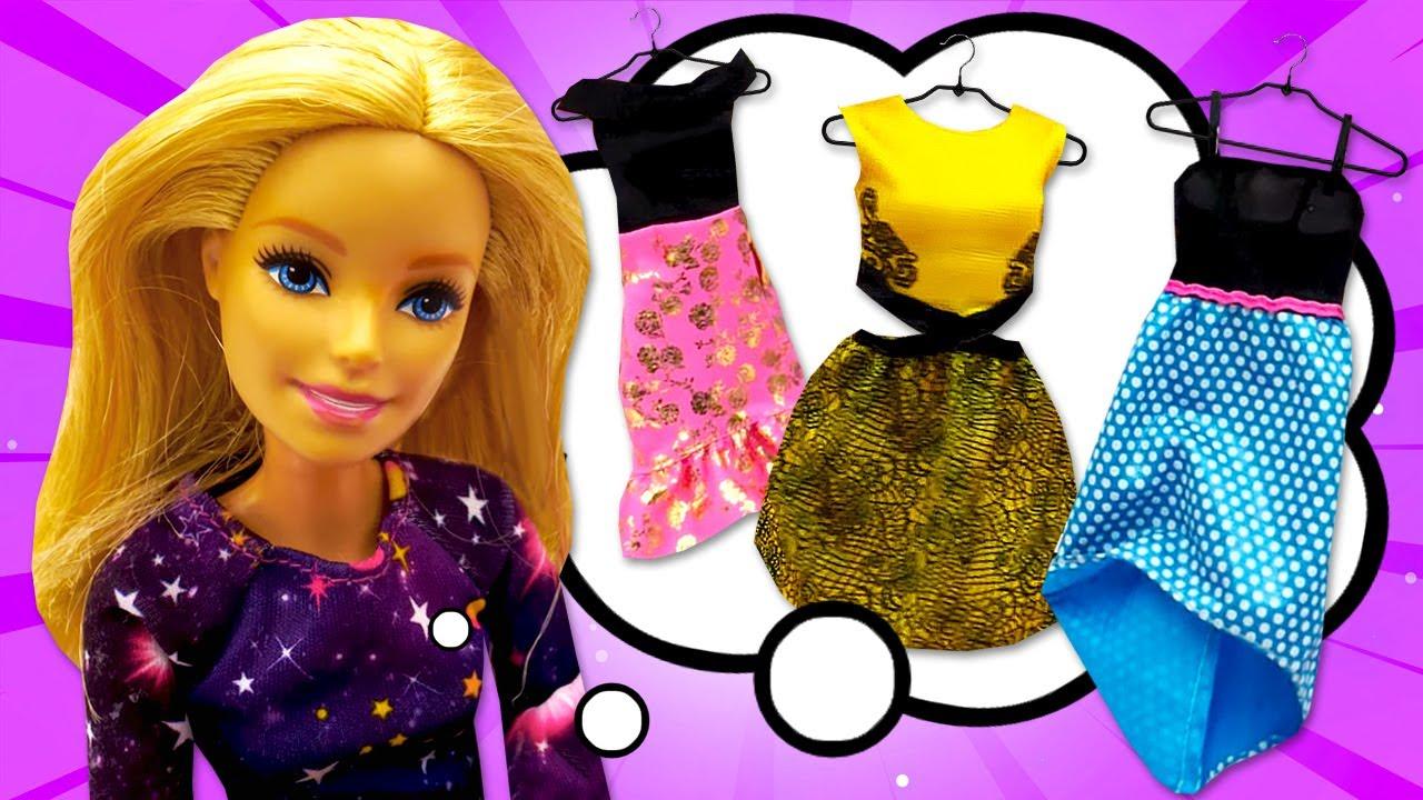 El nuevo vestido de Barbie. La moda de Barbie. Vídeos de Barbie en español.