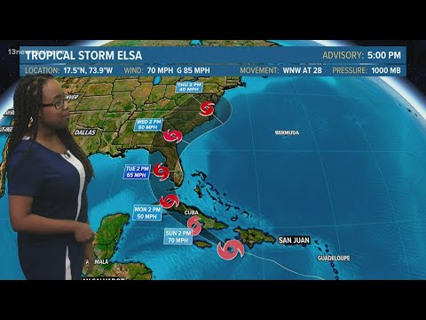 Tracking the Tropics: Tropical Storm Elsa forecast outlook for July 3, 2021