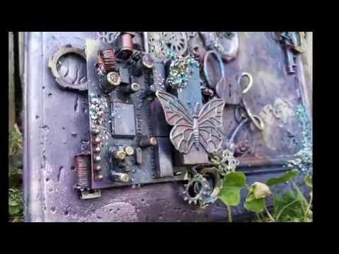 Mixed Media Altered Frame: Steampunk Metals