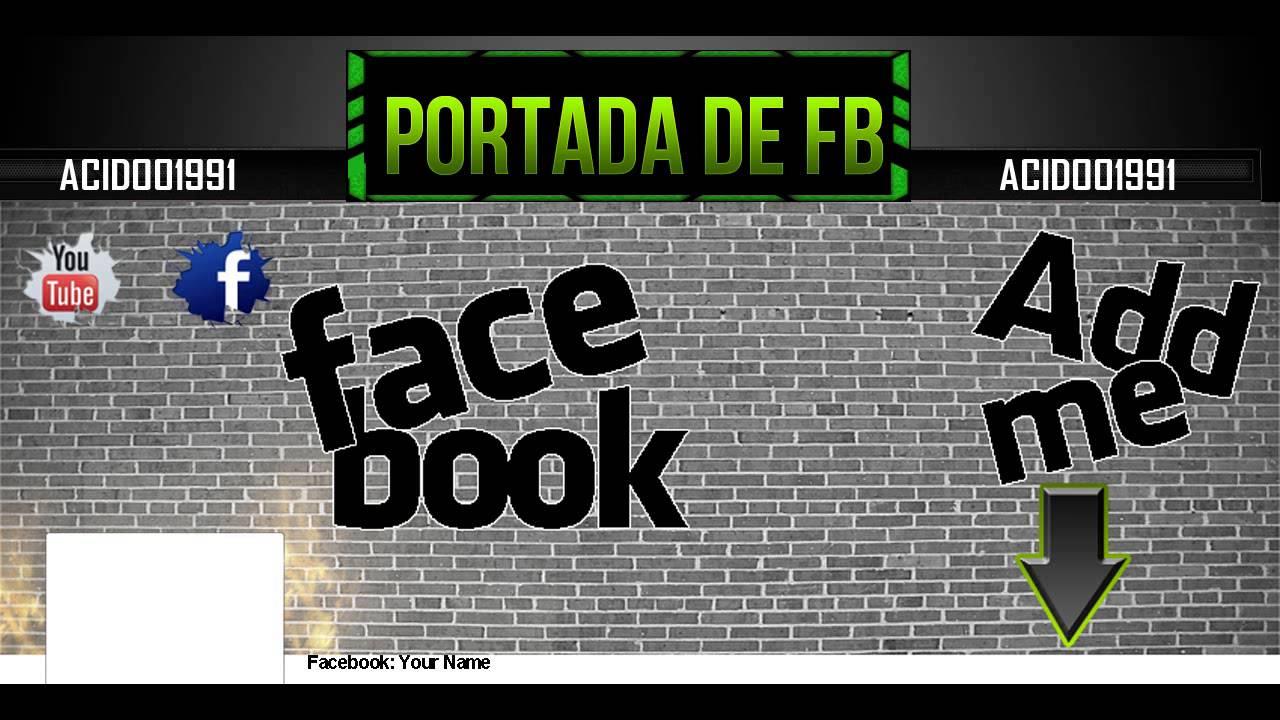 Plantilla para la Portada de Facebook - Photoshop - YouTube