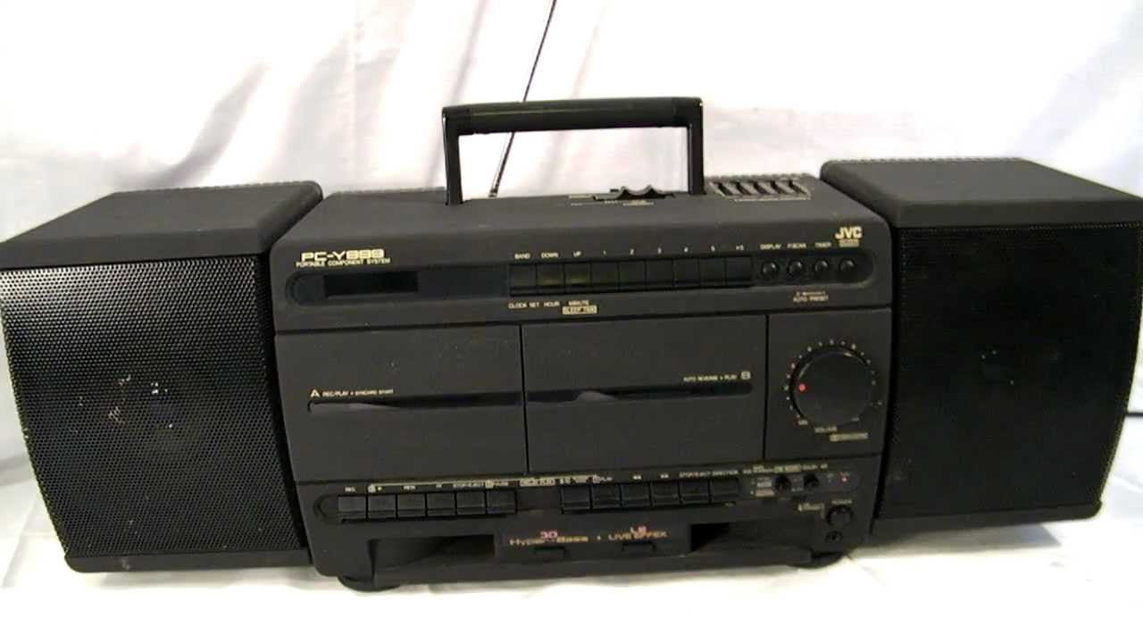 Vintage Jvc Am  Fm Stereo Cassette Recorder Detachable Speaker Boombox - Pc-y999