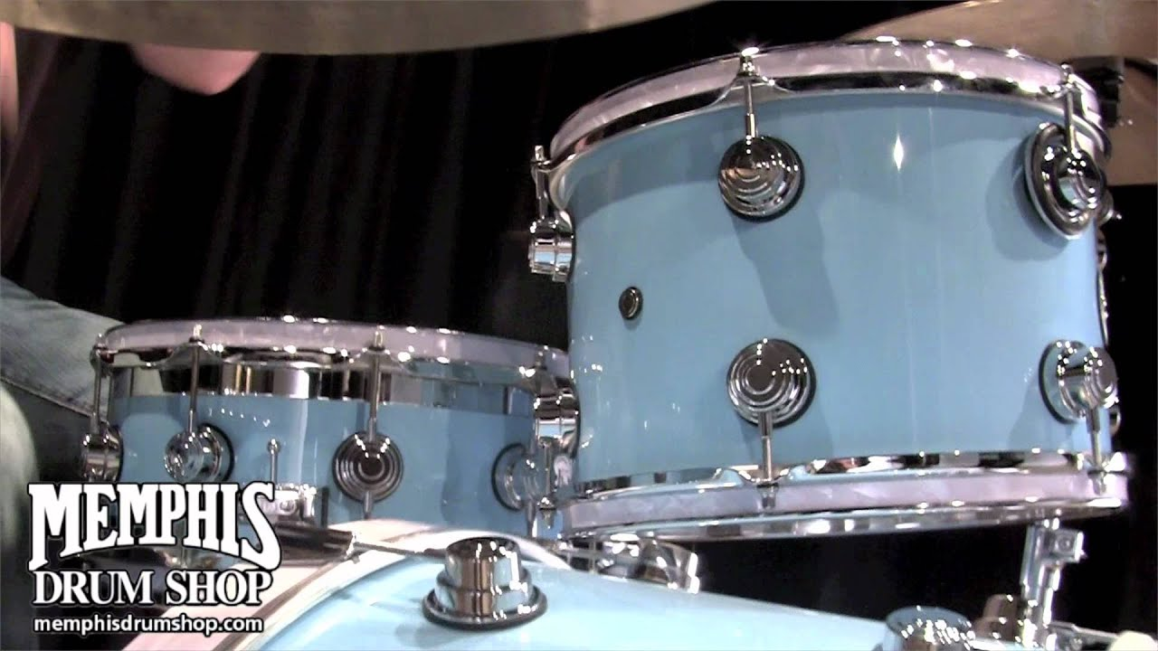 DW Collectors Series MapleMahogany Drum Set  Powder
