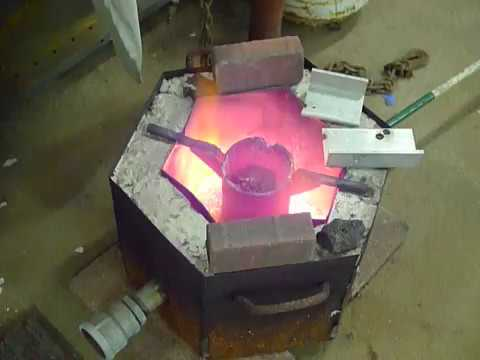 DIY Aluminum Casting, home built kiln for Akira Bike Project