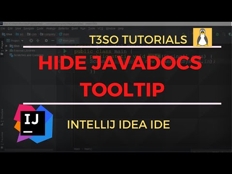 How to Hide JavaDocs tooltip on mouse over in IntelliJ IDEA